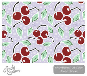 Cherries Surface Pattern by Art-by-Andy