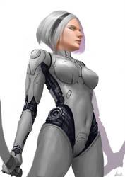Cyborg by AppleMoonTea