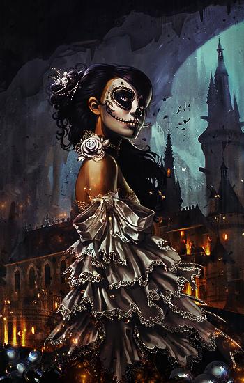 Sugar Skull Woman by BriGht-liGht-NSH