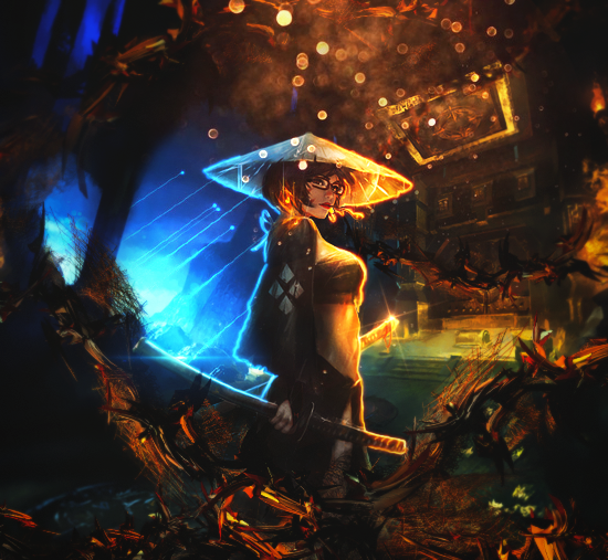 Samurai Girl mysterious by BriGht-liGht-NSH