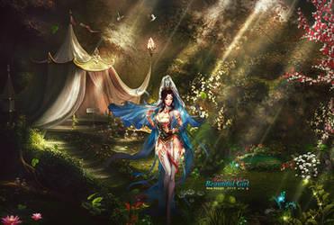 Beautiful Girl Makes Perfume by BriGht-liGht-NSH