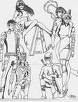Cartoon Avengers - 10 years later Redraw