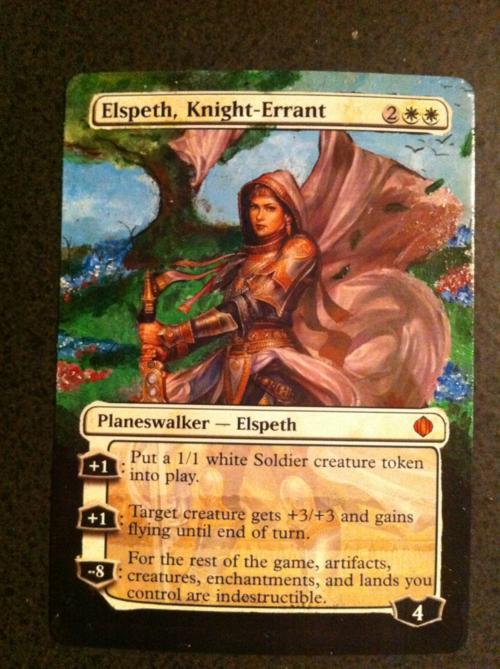mtg alter elspeth knight errant by kermint on deviantart