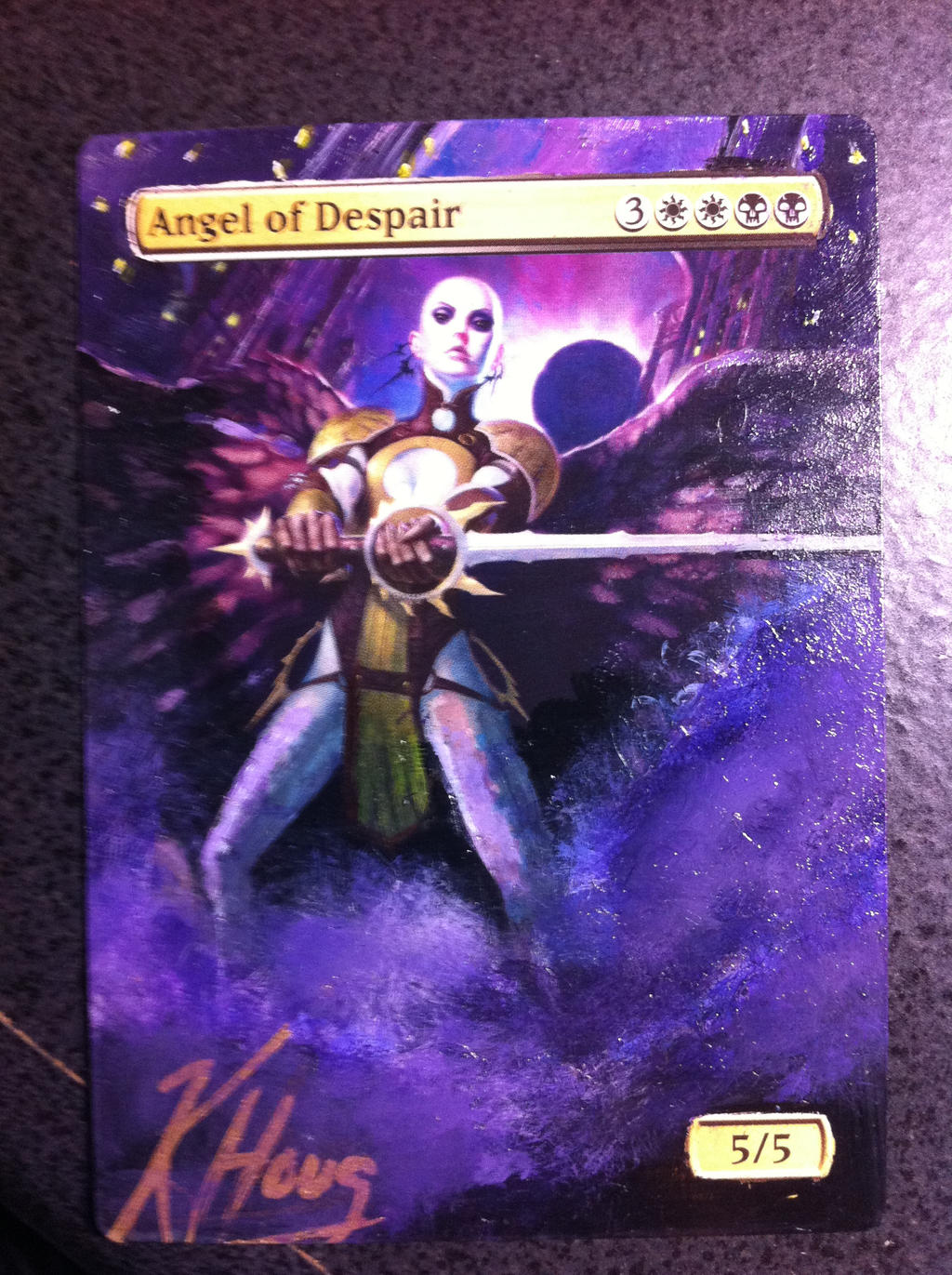 MTG Alter: Angel of Despair by kermint on DeviantArt