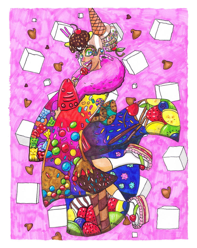 Candy Goddess by Bobalooshrimp