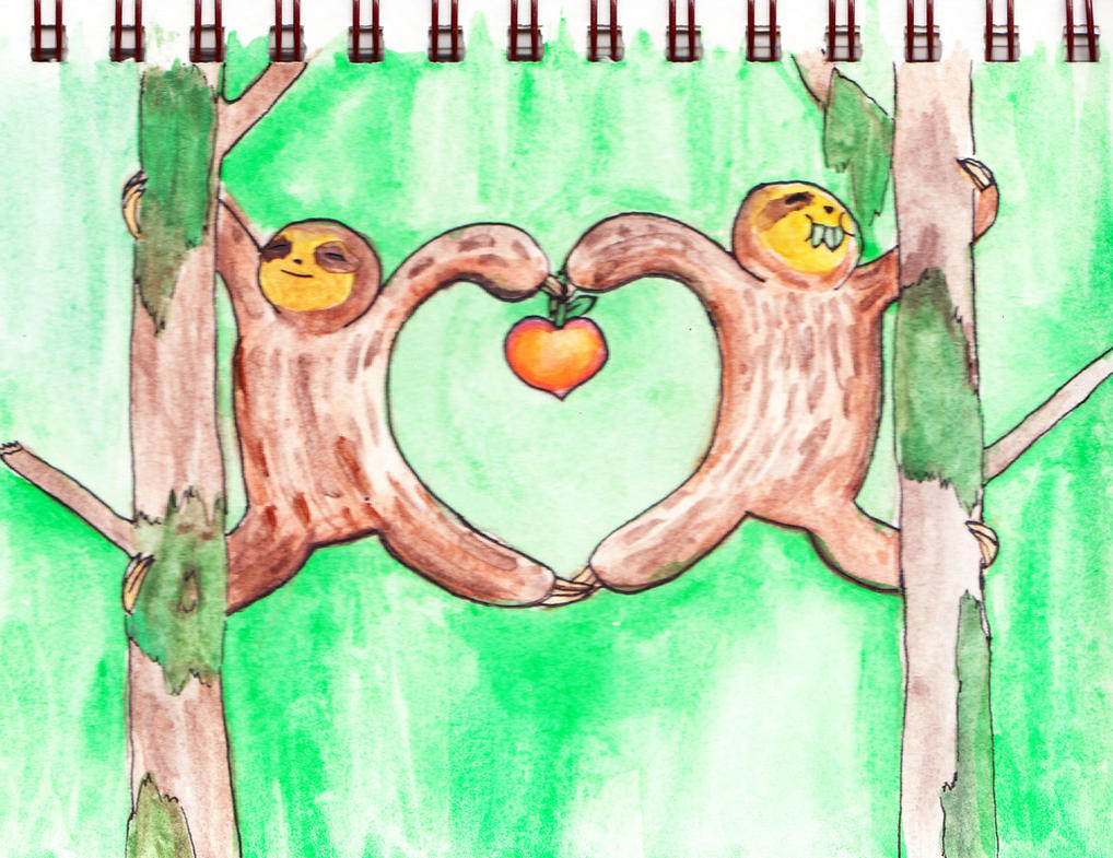 sloth love by Bobalooshrimp