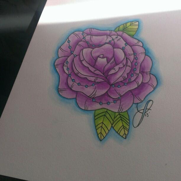 Watercolour Rose by jjaade