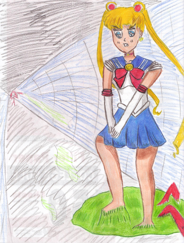 Sailor Moon Stuck in Glue by Comptor on DeviantArt