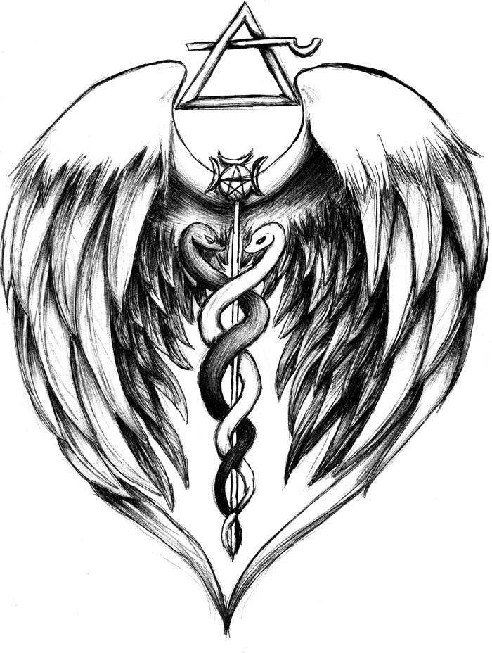archangel raphael symbol tattoo the image kid has it. Black Bedroom Furniture Sets. Home Design Ideas