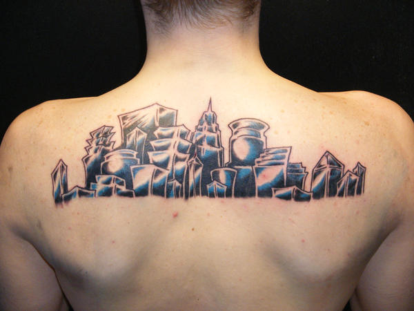 Skyline Tattoo Final - shoulder tattoo
