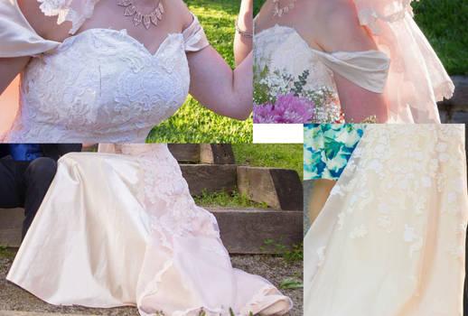 Wedding Dress Detail Collage