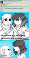 QnA Sans and Frisk 1 by Kimmys-Voodoo