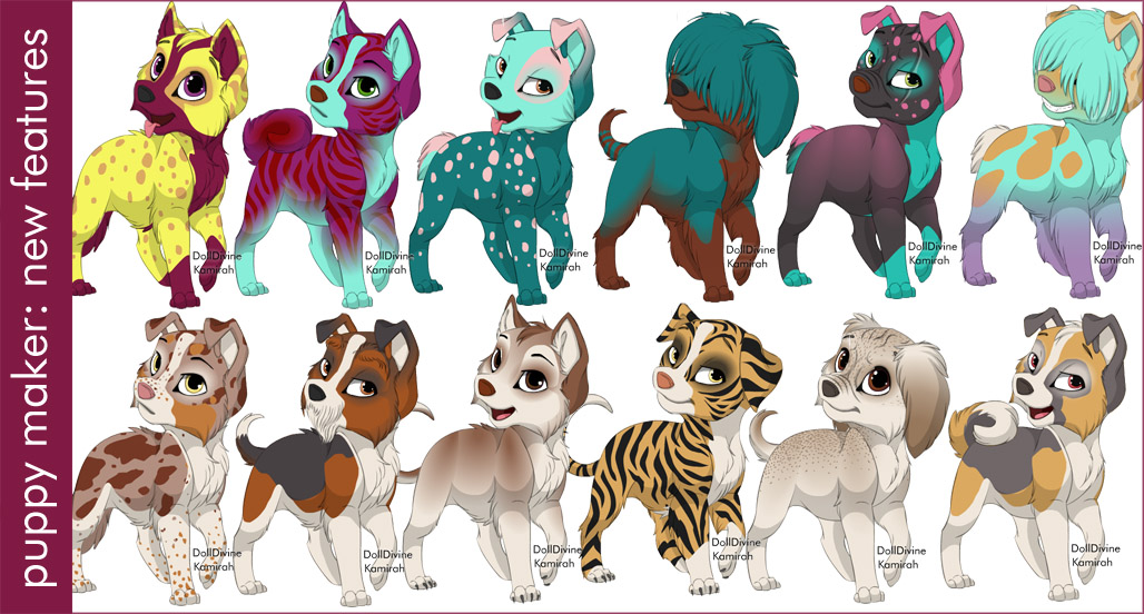 New Puppy Maker Features by dolldivine