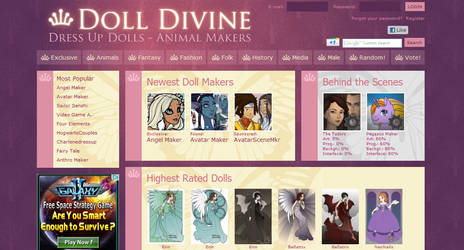 New Website Layout by dolldivine
