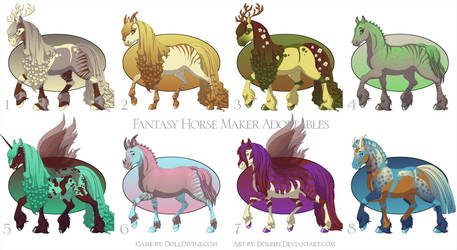 Horse Maker Adoptables - ALL GONE