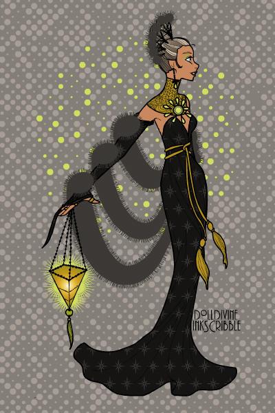 Erte Elegance Dress Up by dolldivine