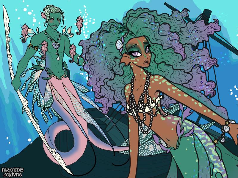 Merfolk Scene Maker by dolldivine