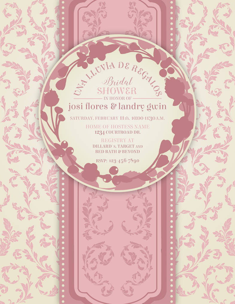 Bridal Shower Invitation With Spanish Flair By Rowdypants On