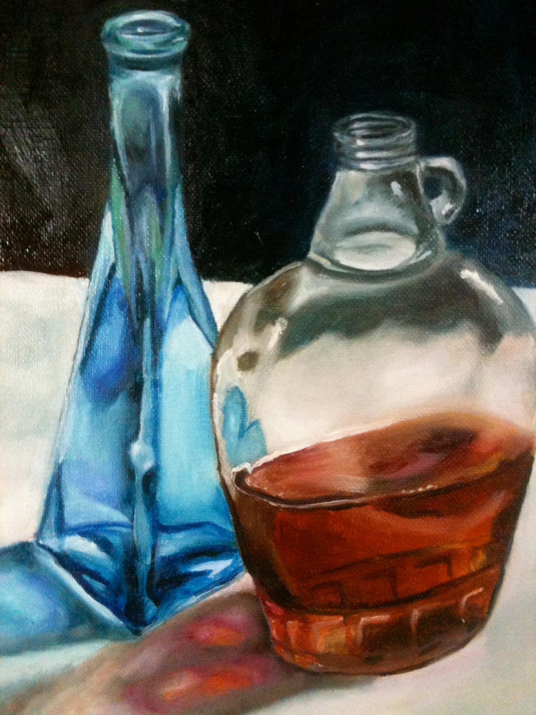Liquid glass oil painting by erin lokilani on deviantart for How to paint glass with oil paint