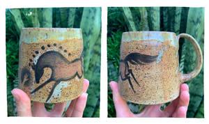 Cave art inspired mug