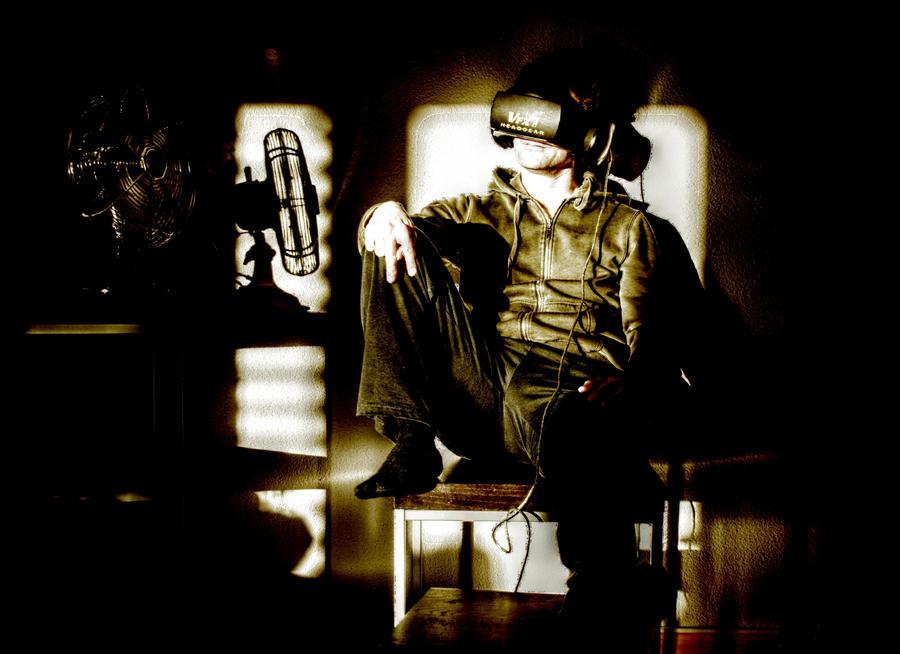 Cyberpunk surfing the matrix