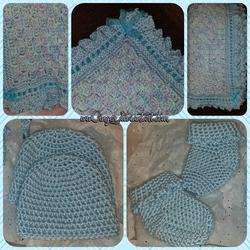 Baby Blue Crochet Set