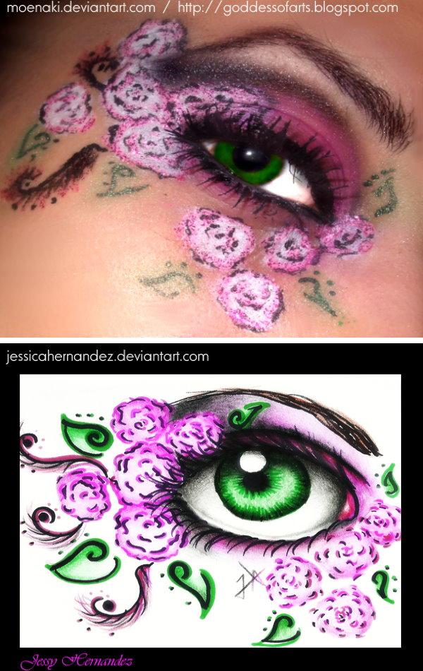 Remake - Roses eye by Bella-Eugenia