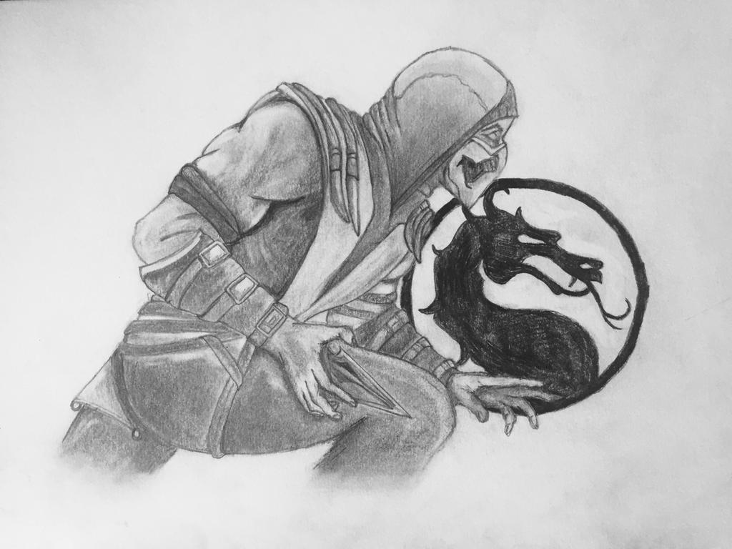 Scorpion Mortal Kombat Pencil Sketch By Samgordonart On Deviantart