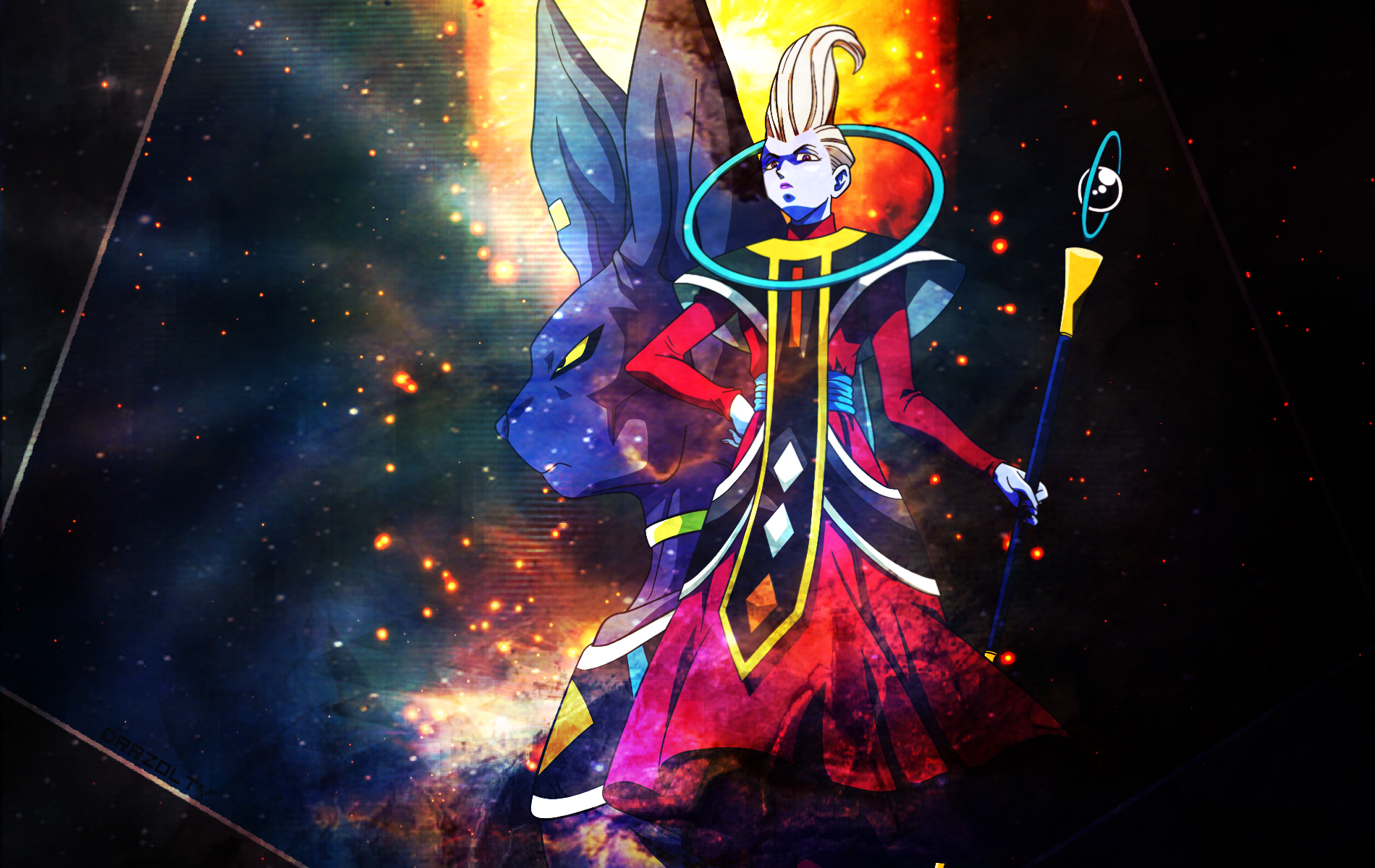Beerus And Whis Wallpaper By Drrzolty On Deviantart