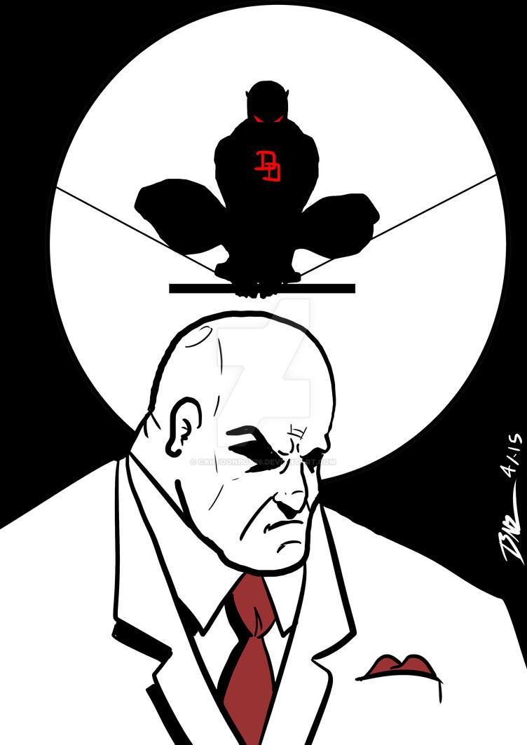 Kingpin V. Daredevil by Cartoonboy76