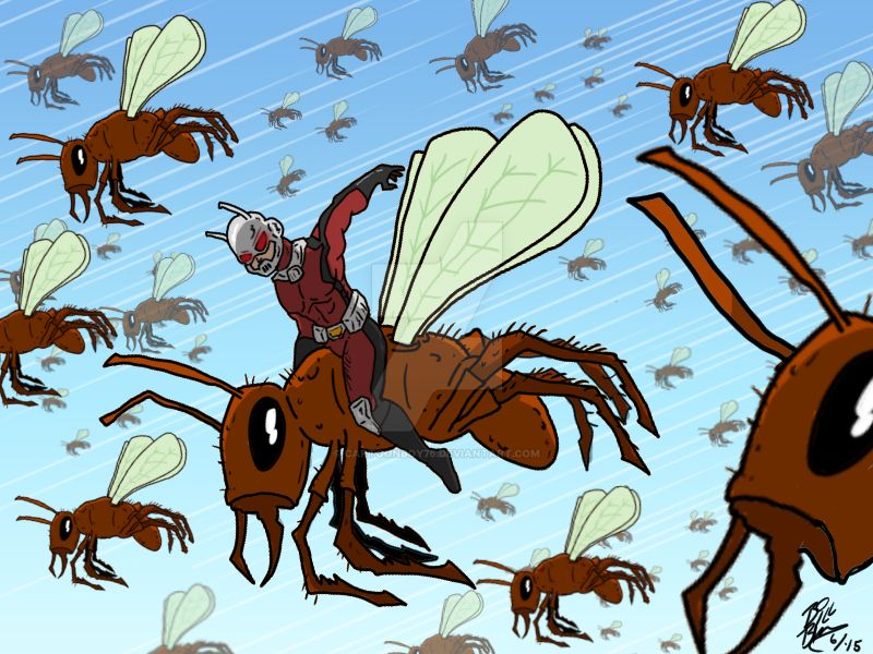 Flight of the Ant-Man by Cartoonboy76
