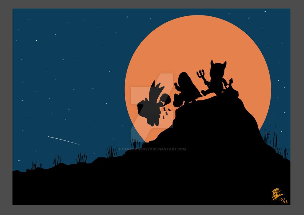 Halloween Moon by Cartoonboy76