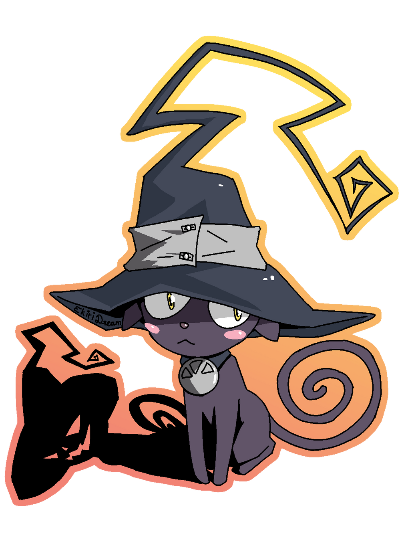 Soul Eater Blair The Cat Sticker By Ekiri Dream On Deviantart