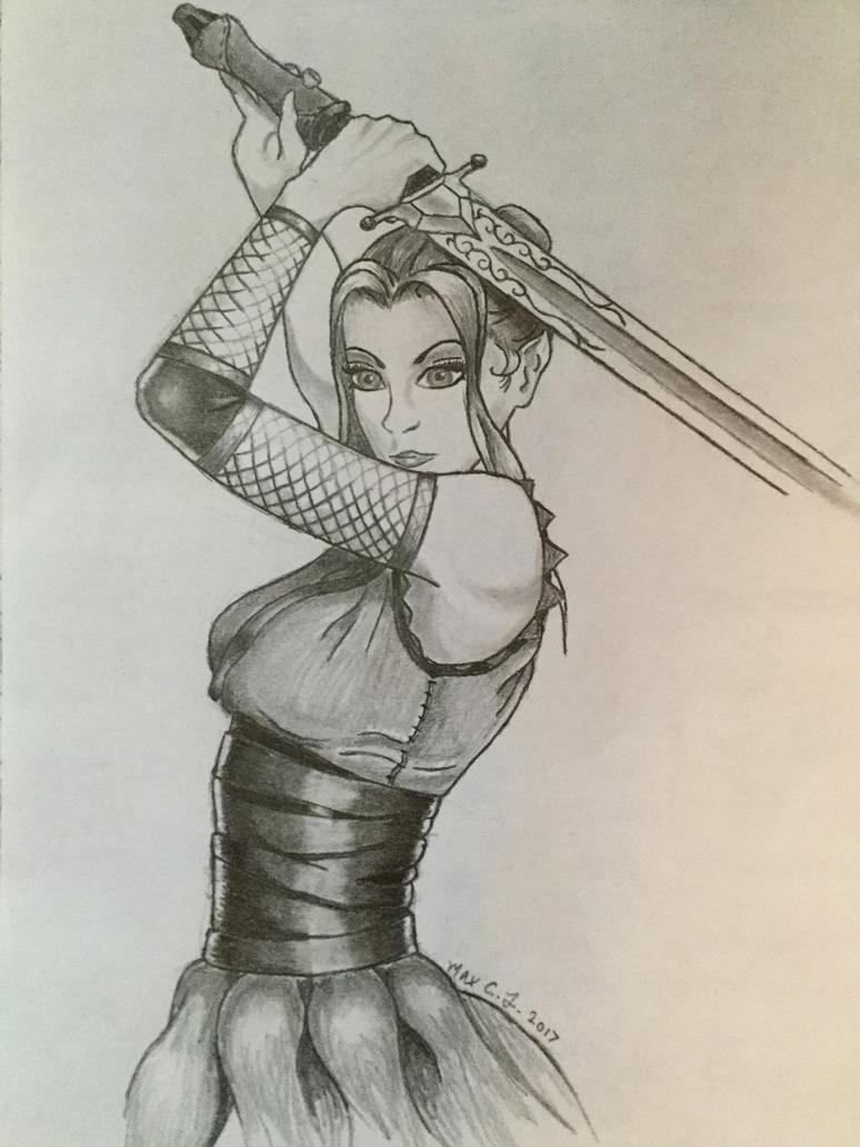 Girl warrior by maxpinkie