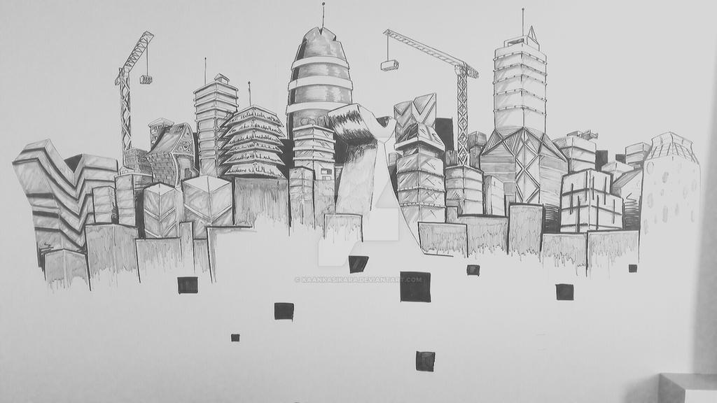 #illustration #doodle #wall #drawing #architecture by KaanKasikara
