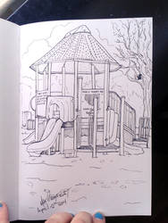 A play park in ink