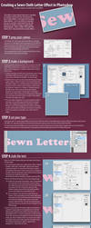 Creating a Sewn Cloth Letter Effect in Photoshop by GoaliGrlTilDeath