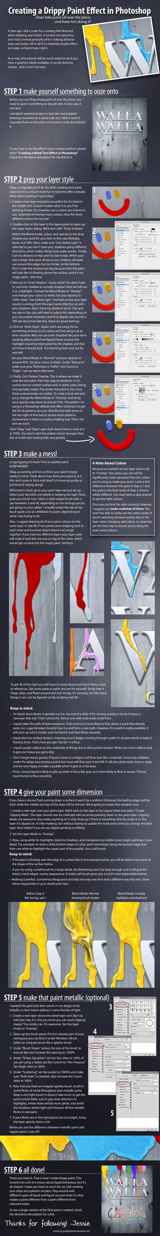 Creating a Drippy Paint Effect in Photoshop by GoaliGrlTilDeath