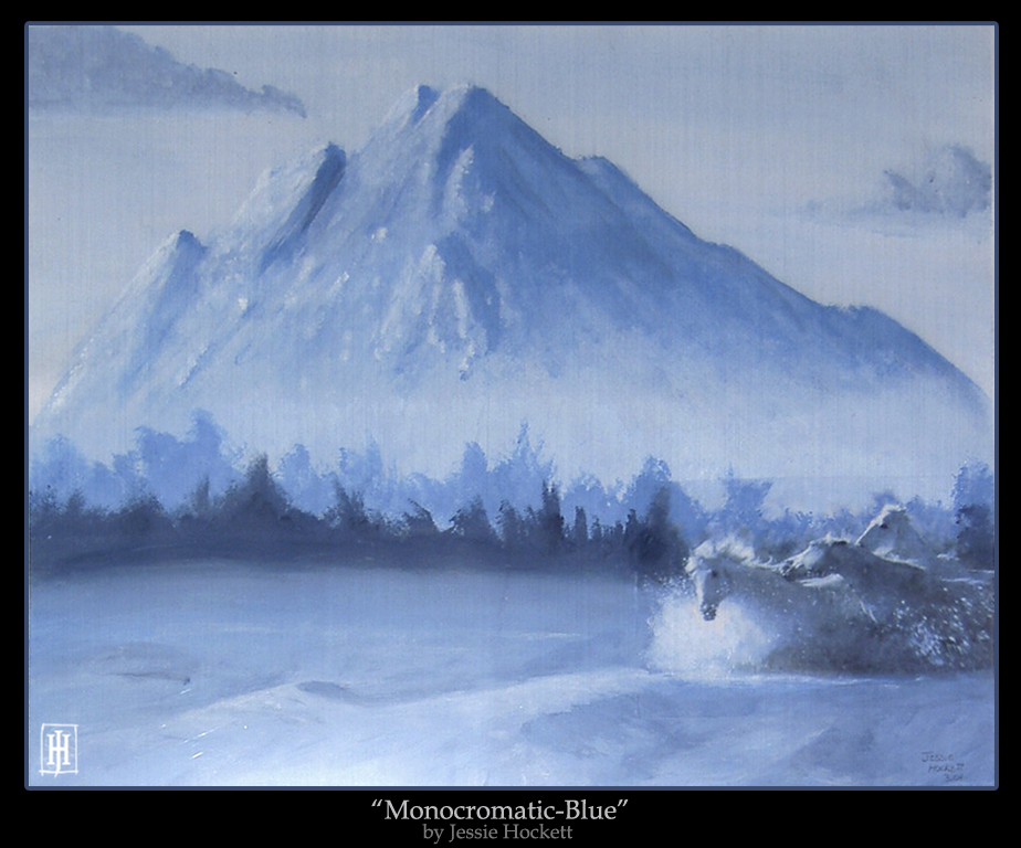 'Monocromatic-Blue' by GoaliGrlTilDeath