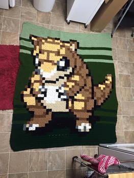 Crochet Sandshrew Blanket