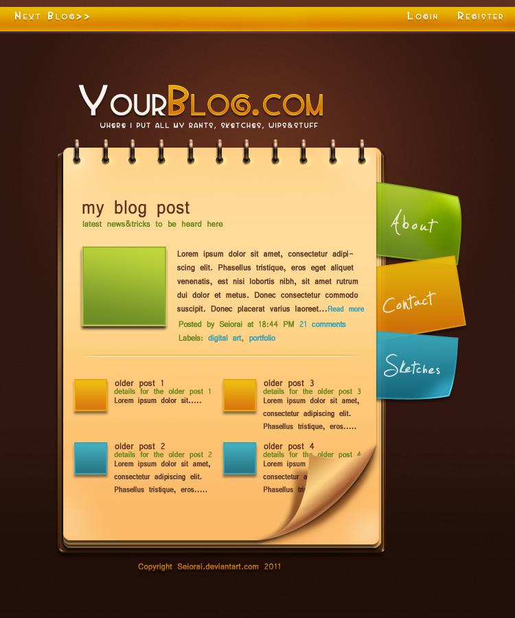Web 2.0 Blog Layout