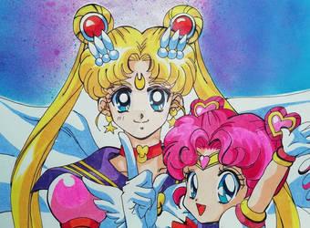Sailor Moon and Chibibi Chibi
