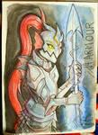 Inktober Day 14: Armour