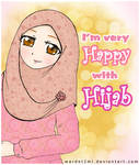 I'm very happy with hijab