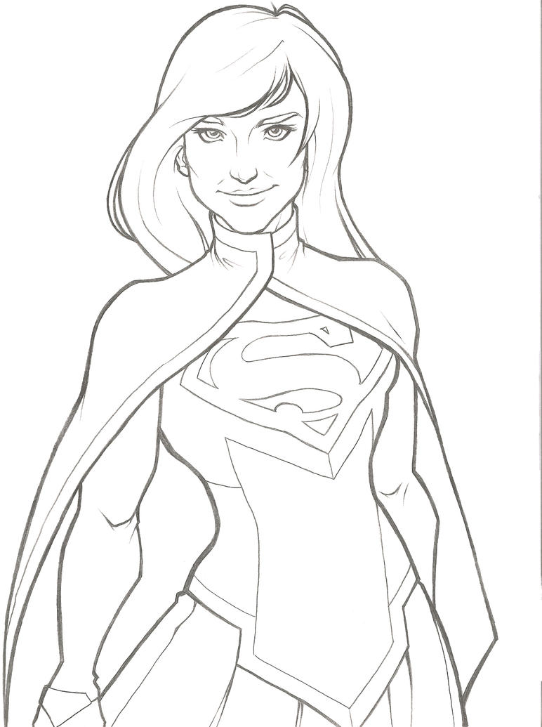 superwoman coloring page - kara el supergirl by noblekitsune on deviantart