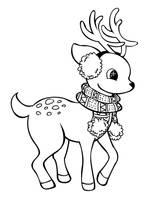 Reindeer Lineart by RPGirl