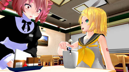 Waitress, there's a Miku in my coffee by XryKnight