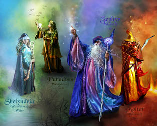 The Elamenatl Wizards by JCTMerge