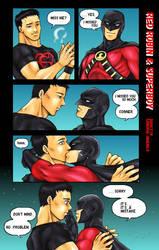 Red Robin and Superboy by SamuraiHimenoji