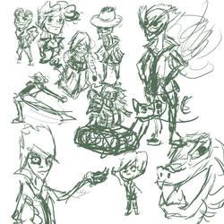 August 17th 30 minute sketch dump by Silvaks